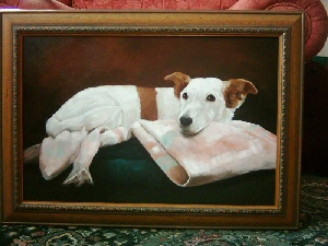 Pet Portraits Dog - Jack Russell Framed
