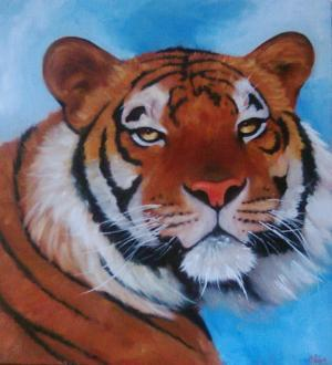 Oil Painting - Tiger