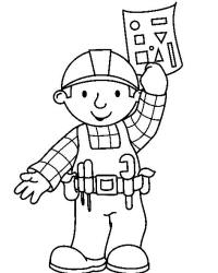 Bob the Builder Colouring Page