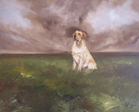 Oil Portrait of Labrador