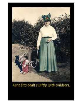 Aunt Etta Deals Art Print